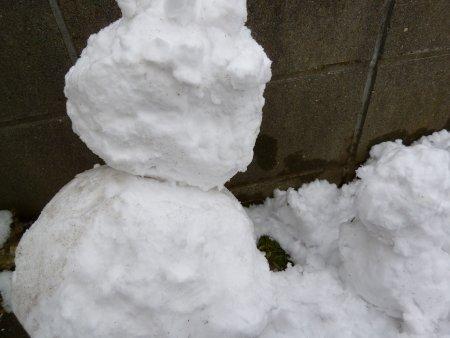 作ったのは、雪だるま。