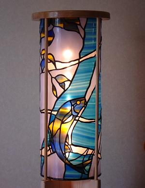 ステンドグラス行灯「鯉」