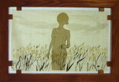 フュージング画「麦畑」
