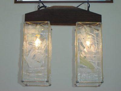 フュージング応用ランプ「雪のランプ」完成