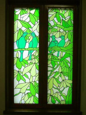 自然のステンドグラス「マロニエの森」