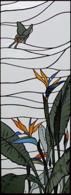 オーダーメイドステンドグラス「極楽鳥花」