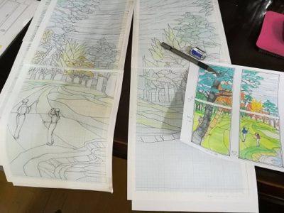 「グリーン」はゴルフ場を想定した風景画です