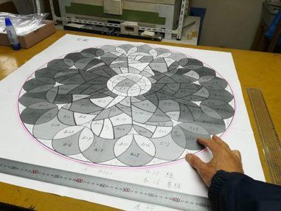 バラ窓の原寸型紙