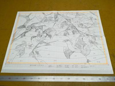 「ルリビタキ」の原寸型紙