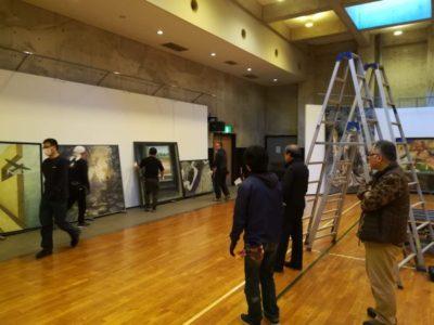 開幕前日(11/16)の会場設営風景