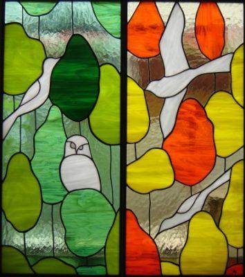 自然のステンドグラス「森」