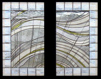 抽象ステンドグラス「風」