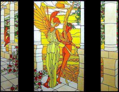 人物ステンドグラス「アテナとニケ」