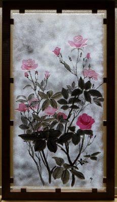 フュージング画「つるバラ」