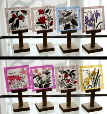 フュージングタイル「四季の花」