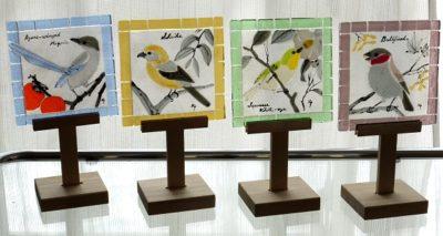 フュージングタイル「野鳥」