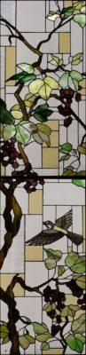 縦長のオーダーメイドステンドグラス「葡萄」