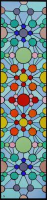 幾何学模様のオーダーメイドステンドグラス「万華鏡」