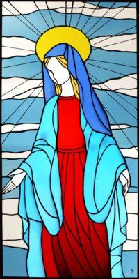 オーダーメイドステンドグラス「聖母」
