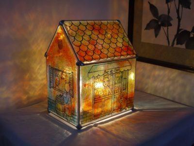 家型ランプ「猫のBAR」