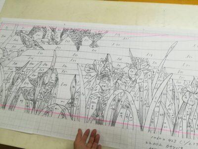 A3用紙×6枚を貼り合わせて原寸大型紙にします