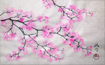 桜(染井吉野)の水墨画