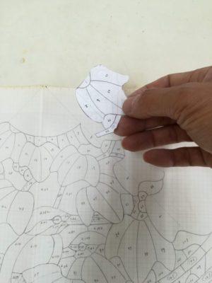 当時の型紙をセンターファイルから出してきて、当該箇所のコピーを取ります