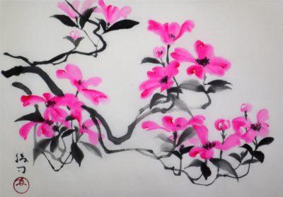 花水木の水墨画