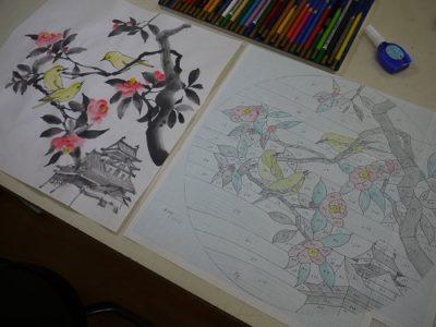原画(左)と、型紙(右)