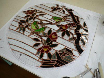 30分ほどかけてガラスのジグソーパズル完成