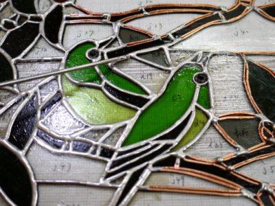 小鳥の部分の本ハンダ