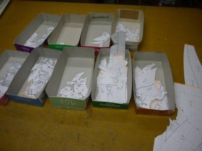切り分けた型紙は全414ピース