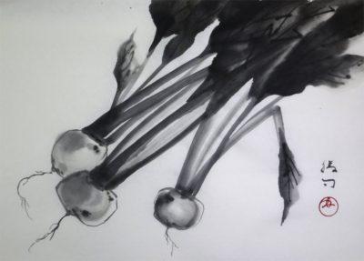 水墨画「蕪」