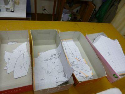 ガラスカット用の型紙